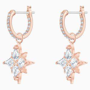 Swarovski Symbolic star ring pierced earrings